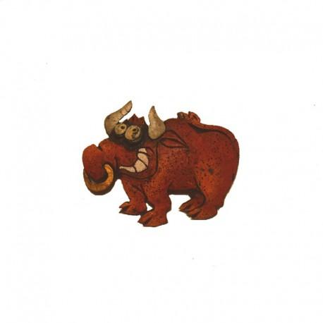 Barrette en résine taureau
