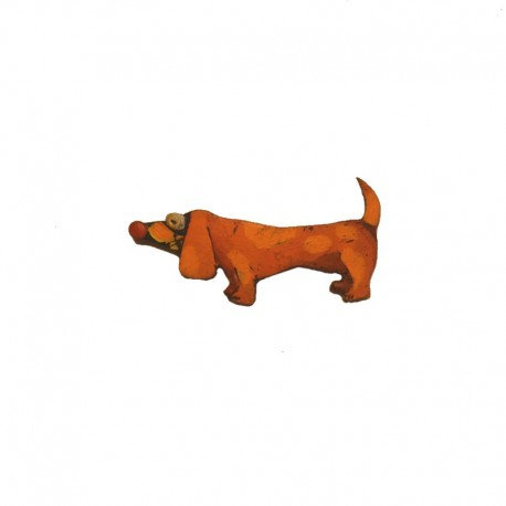 Resin hair slide dachshund