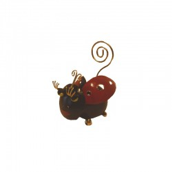 Ladybug metal photo holder