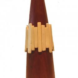 Bracelet lamelles en résine Larg 6cm - Différentes couleurs