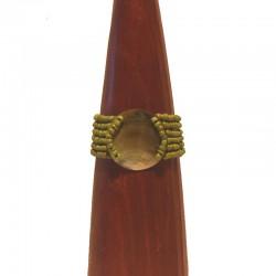 Bracelet perles et nacre ronde 4cm - Différentes couleurs