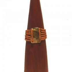 Bracelet perles et nacre rectangle 4cm - Différentes couleurs