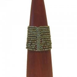 Bracelet manchette perles de rocaille 6 cm - Différentes couleurs