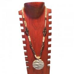 Collier perles et nacre zébrée - Différentes couleurs