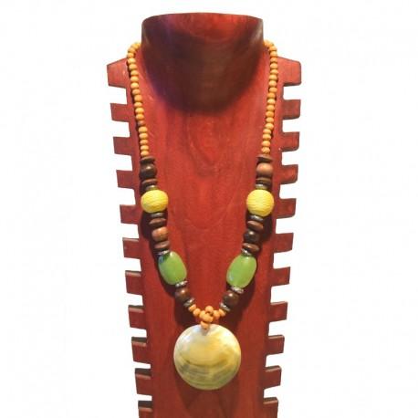Collier perles et nacre - Vert clair