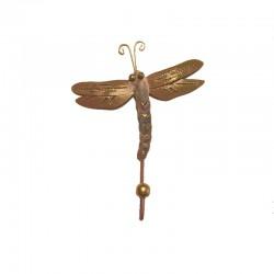 Metal Dragonfly coat hanger H 21 cm