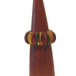 Bracelet 3,5 cm bois et perles - Différentes couleurs