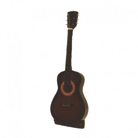 Guitare folk miniature en bois vernis - modèle 22