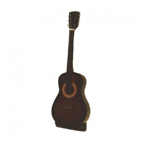Miniature folk guitar in varnished wood - model 22
