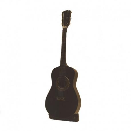 Guitare folk miniature en bois noir - modèle 26
