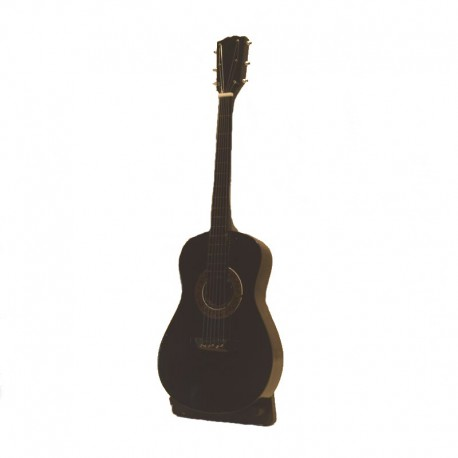 Miniature folk guitar in black wood - model 26