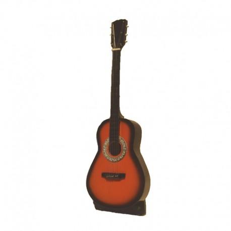 Miniature folk guitar in light brown wood - model 28