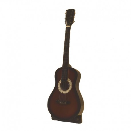 Miniature folk guitar in wood - model 29