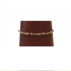 Silver metal anklet chain - Stars and beads