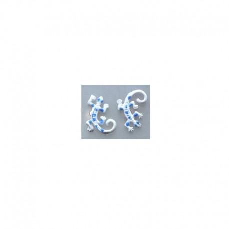 Boucles d'oreilles Gecko - Blanc