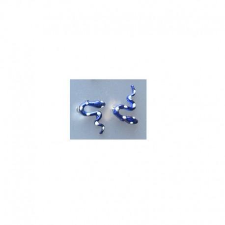Boucles d'oreilles Serpent - Bleu