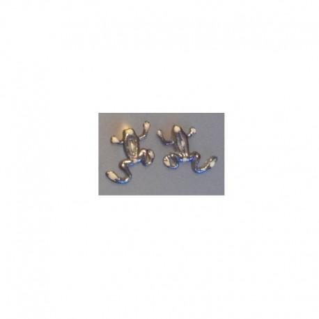 Boucles d'oreilles Grenouille - Gris