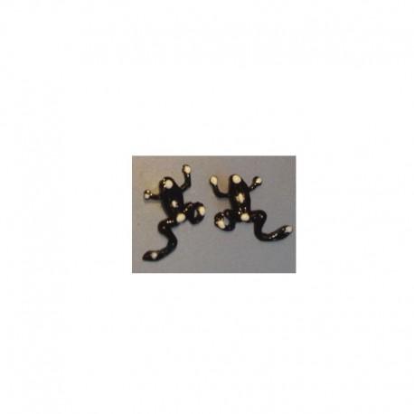 Boucles d'oreilles Grenouille - Noir