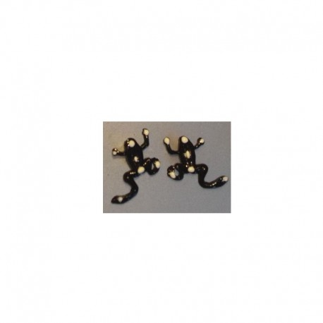Fancy Frog earrings - Black