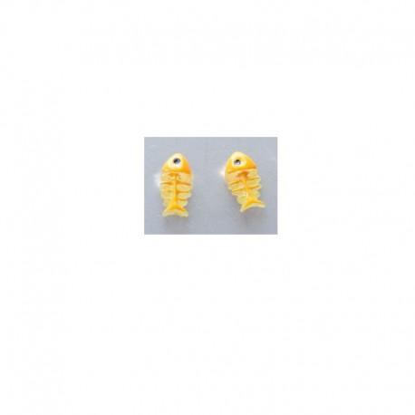 Boucles d'oreilles Poisson - Jaune