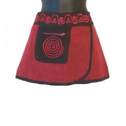 Mini jupe ethnique coton - Tailles et couleurs différentes