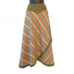 Long cotton striped wrap skirt - Different size and colors