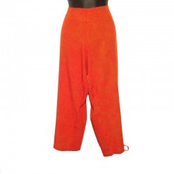 Rayon capri short - Rust coloured