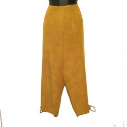 Rayon capri short - Rust coloured