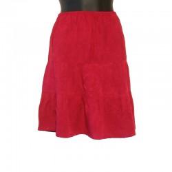 Short skirt in rayon - Raspberry