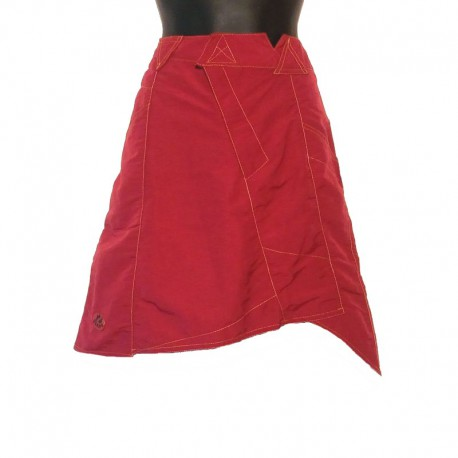 Short asymetric skirt - Maroon