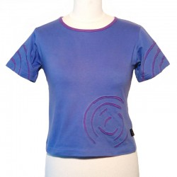 Cotton spiral T shirt short sleeves - White and black