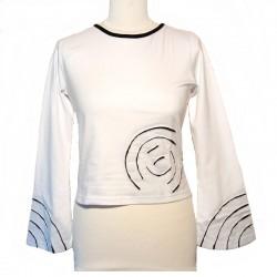 Tee shirt spirale en coton manches longues - Différentes couleurs