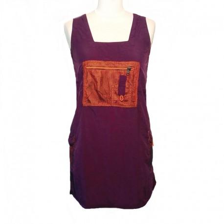 Robe courte toile de Parachute - Violet et orange