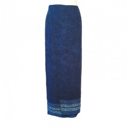 Jupe portefeuille en rayonne - Bleu et bleu clair
