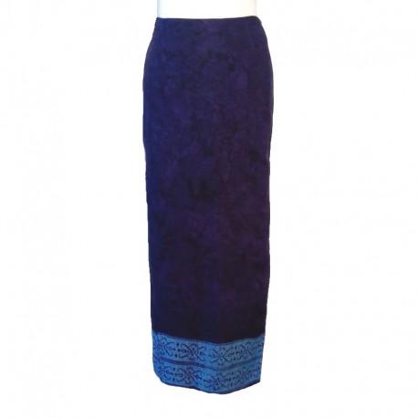 Rayon wraparound skirt - Purple and parma