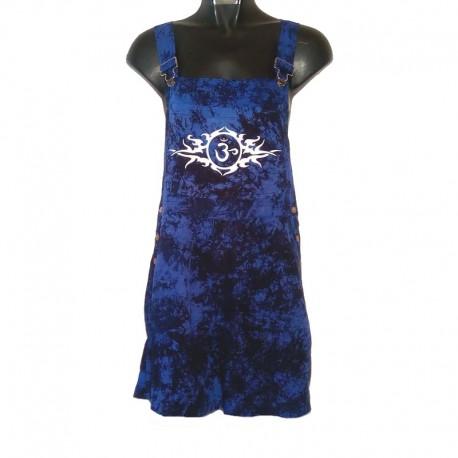 Salopette courte tribale - Taille S - Bleu foncé chiné