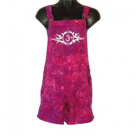 Tribal short overalls - Size 6 us - Purple