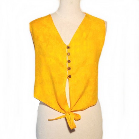 Rayon top free size - Yellow