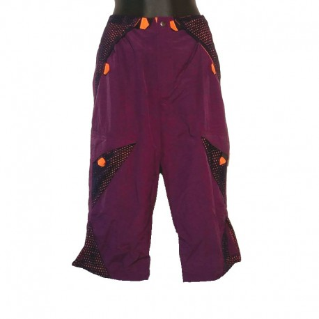 Capri short in parachute fabric - Purple