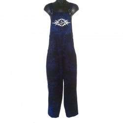 Tribal design overalls - Size 6 us - Dark blue with white design