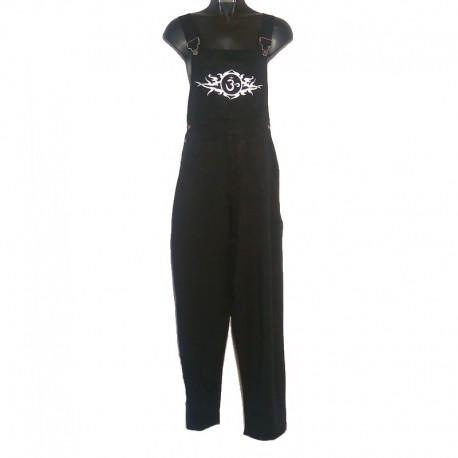 Tribal design overalls - Size 6 us - Black with white design