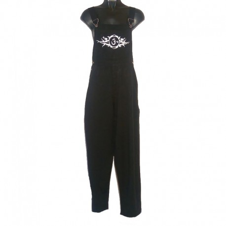 Ethnic overalls - Size 8 us - Black with white design