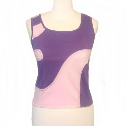 Cotton spiral top tank - Purple and pink