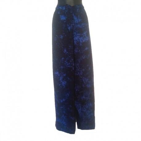 Pantalon en rayonne - Bleu foncé chiné
