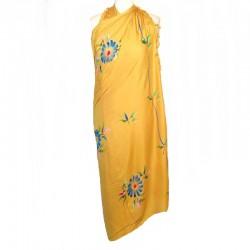 Paréo jaune design fleur