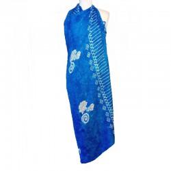 Paréo bleu design coquillages