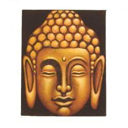 Peinture sur toile 19,5x25 cm - Bouddha doré