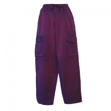Ethnic men's pants - Purple