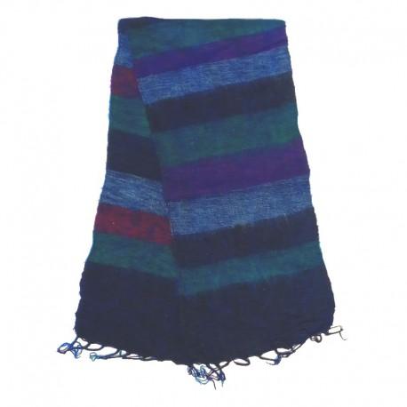 Striped wool scarf Yak 150x30 cm - Model 26