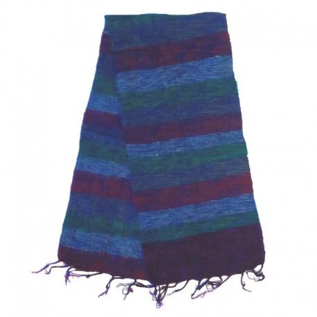 Striped wool scarf Yak 150x30 cm - Model 27